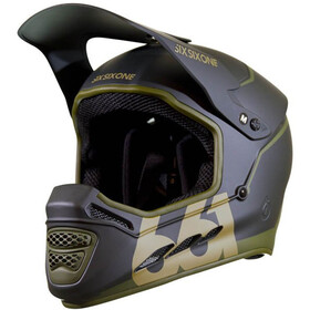 SixSixOne Reset MIPS Full Face Helm, deep forest green